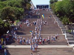 Якорь на Потемкинской лестнице в день флота оказался партийным пиаром