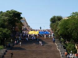 Флаг Украины на Потемкинской лестнице побил очередной рекорд