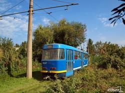 На одесском камышовом маршруте впервые появились модернизированные трамваи (ФОТО)