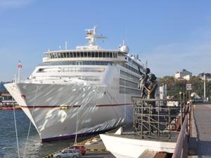 В Одесском порту аншлаг: во вторник к причалу пришвартовалось очередное круизное судно