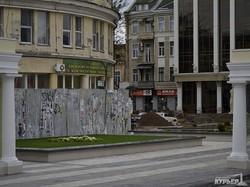 Греческая площадь в Одессе тоже пострадала от ливня (ФОТО)