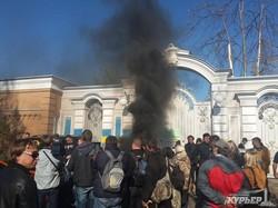 В Киеве снова горели шины (ФОТО)