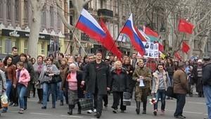 """Милиция призывает не паниковать, а активисты говорят о готовности к встрече с """"русским миром"""""""