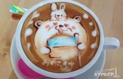 Оригинальное приветствие от японцев: патриотический кофе