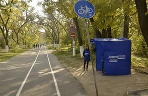 На Трассе Здоровья замечены агитационные палатки в поддержку мэра Труханова (ФОТО)