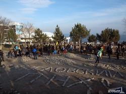 Одесситы оставили нецензурное послание мэру на парковке у дельфинария (ФОТОФАКТ)