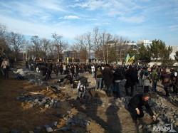 Как в Одессе незаконную парковку возле моря снесли (100 ФОТО)