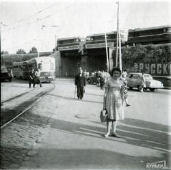 Перекресток спуска Маринеско и улицы Балковской у Пересыпского моста, 1965 г.