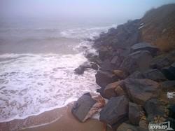 Туманное море на одесском побережье (ФОТО)