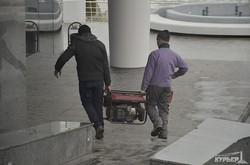 Ланжероновский ударный коммунистический труд: парковка у моря готова (ФОТО)