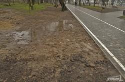 Очередная стройплощадка в Парке Шевченко (ФОТО)