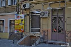 Последствия ночного взрыва в центре Одессы (ФОТО)