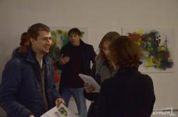 Абстрактные пейзажи немецкой художницы в Одессе (ФОТОРЕПОРТАЖ)