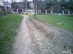 Трамвайная стройка в одесской Аркадии началась с лесоповала (ФОТО)