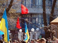В Одессе были конфликты из-за красных флагов (ФОТО)