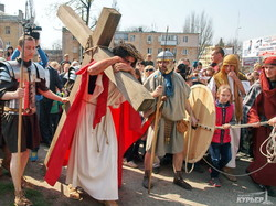 В Одессе показали события из Евангелия (ФОТОРЕПОРТАЖ)