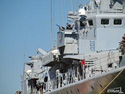 Флагман ВМС Украины у причала Одесского морского вокзала (ФОТО)