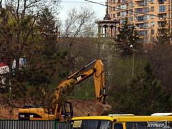 Одесская трамвайная стройка рядом с Аркадией идет полным ходом (ФОТО)