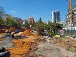 Трамвайная стройка рядом с Аркадией: склон уже полностью срыли (ФОТО)