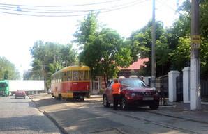 В Одессе по Французскому бульвару впервые за полгода проехал трамвай (ФОТО)