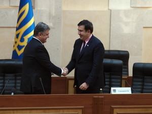 Михеил Саакашвили стал гражданином Украины и губернатором Одесской области (ФОТОРЕПОРТАЖ)