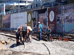 Трамвайное кольцо около одесской Аркадии скоро будет совсем готово (ФОТОРЕПОРТАЖ)