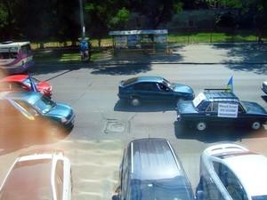 В Одессе предприниматели автопробегом ударили по кассовым аппаратам (фото)