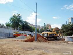 Кольцо одесского трамвая около Аркадии уже почти готово (ФОТО)
