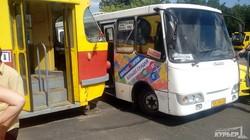 В Одессе трамвай столкнулся с маршруткой (ФОТО)