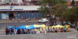 Над Одессой подняли рекордный флаг Украины (ФОТО)