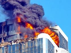 Фотоподробности мегапожара в одесской высотке: дом сгорел из-за нарушений строительных норм