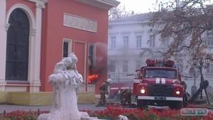 В Одессе загорелся музей морского флота