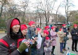 В Одессе ко Дню инвалидов забилось импровизированное сердце (ФОТО)