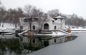 Одесский Дюковский парк замерзает (ФОТО)