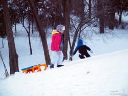 Зимние забавы одесситов в парке Шевченко (ФОТО)