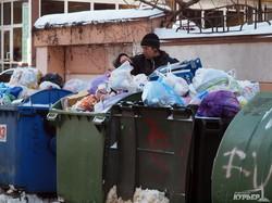 В Одессе были сложности с вывозом мусора (ФОТО)