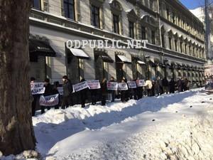 В Одессе бастуют работники элитного бутика
