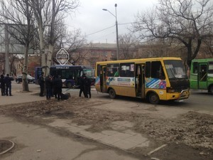 В Одессе одна маршрутка врезалась в другую