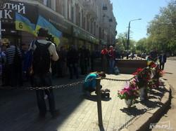 В центре Одессы почтили память первых погибших 2 мая (ФОТО)