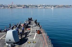 На морской фазе Си-Бриза в Одесском порту моряки отрабатывали водолазное дело и борьбу за живучесть (ФОТО)