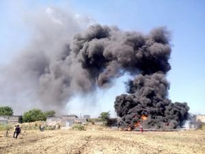 В Одессе на поселке Котовского горела свалка мусора