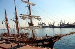 В Одессу пришел итальянский военный парусник Palinuro (ФОТО)