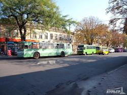 одесский троллейбус на улице бунина