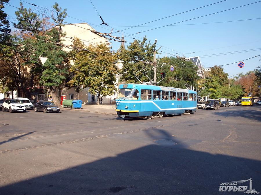 одесский трамвай на улице преображенской