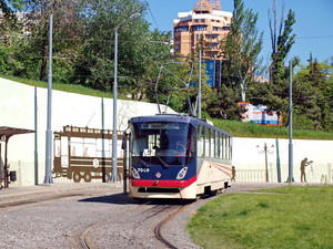 В Одессе стоят трамваи 5-го маршрута