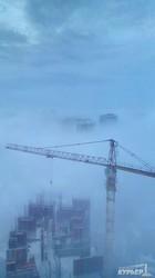 Одесса в тумане с высоты птичьего полета (ФОТО)