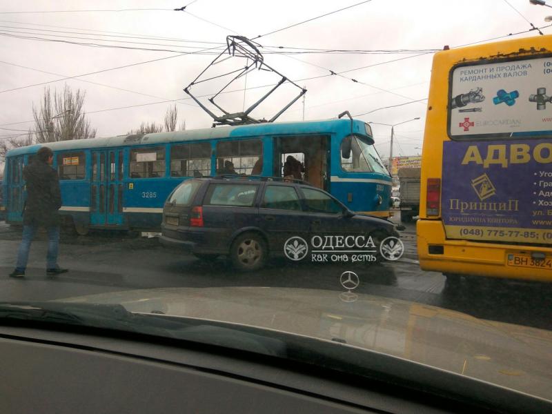 ДТП с участием трамвая