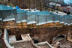 В Одессе продолжают превращать зеленую зону под Приморском бульваром в Стамбульский парк (ФОТО)
