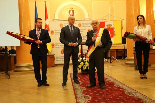 В одесской мэрии чествовали вице-президента Всемирного клуба одесситов Евгения Голубовского