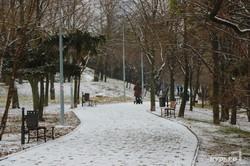 В Одессе выпал снег: пейзажи парка Победы и Чкаловского пляжа (ФОТО)